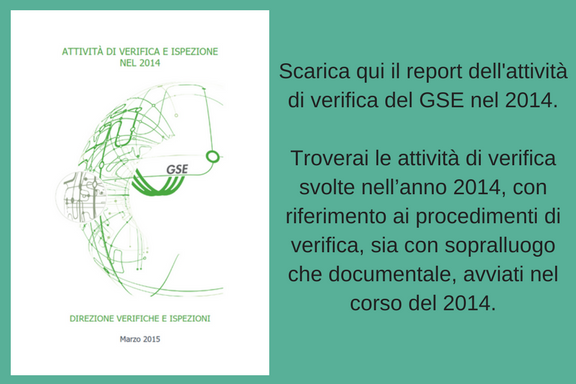 scarica il rapporto di verifica GSE 2014